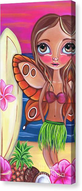 Coconut Canvas Print - Hawaiian Fairy by Jaz Higgins