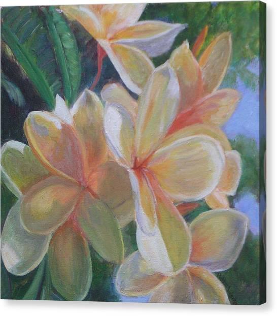 Hawaiian Flowers Canvas Print