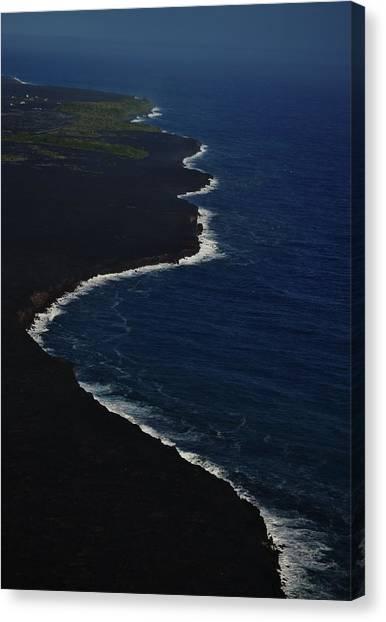 Hawaiian Goddess Meets The Sea Canvas Print by Tara Miller
