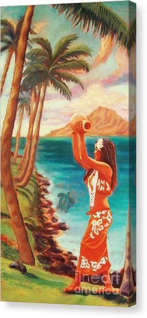 Hawaiian Hula Wahine Canvas Print