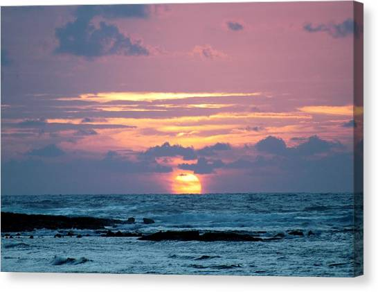 Hawaiian Ocean Sunrise Canvas Print