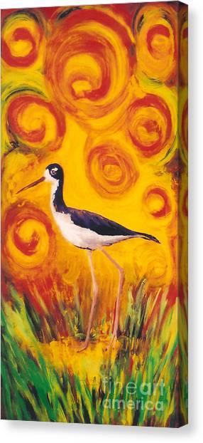 Hawaiian Stilt Sunset Canvas Print