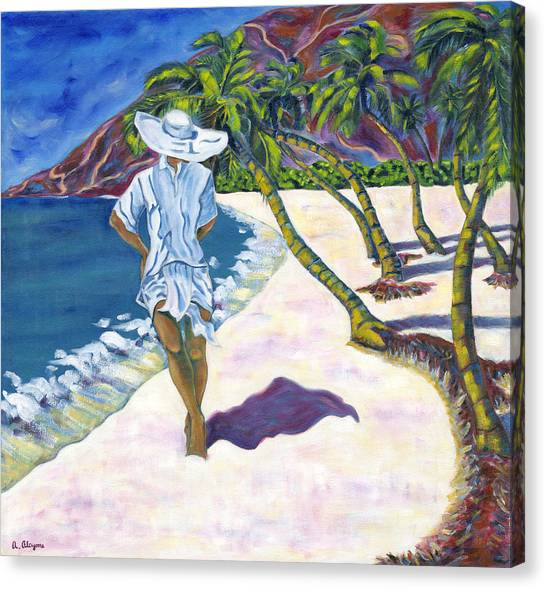 Hawaiian Stroll Canvas Print