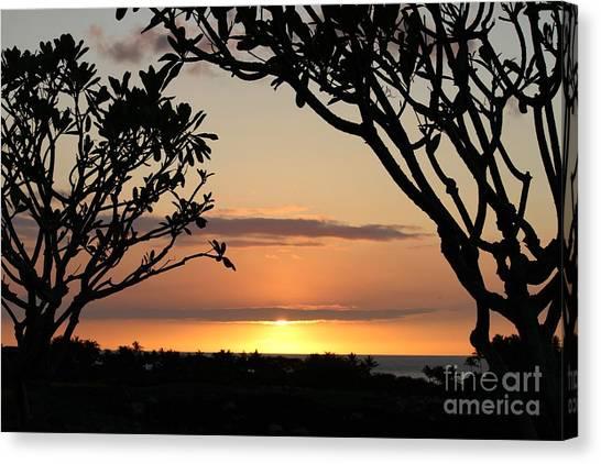 Hawaiian Sunset All Profit Go To Hospice Of The Calumet Area Canvas Print