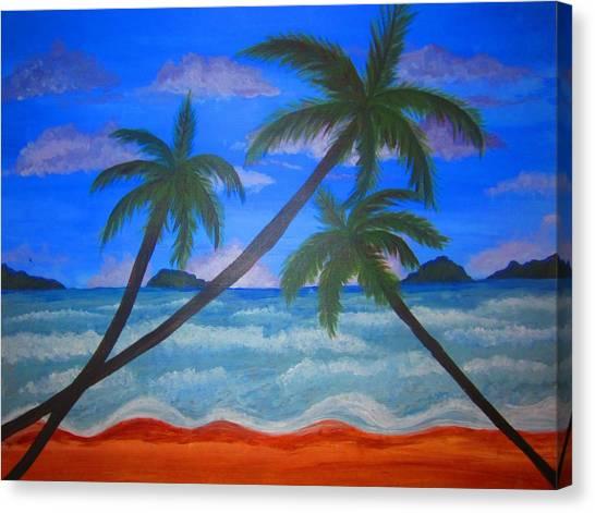 Hawaiin Beach Canvas Print by Haleema Nuredeen