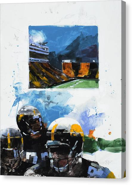 University Of Iowa Canvas Print - Hawkeye Kinnick by Stan Fellows