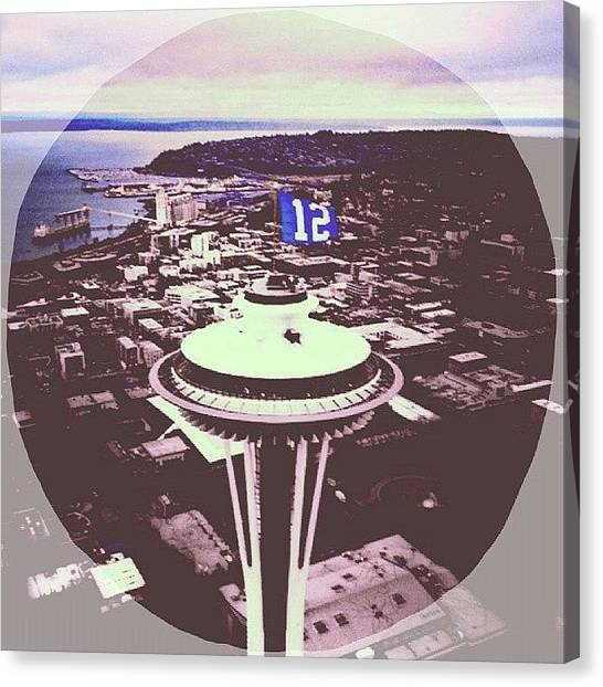 Seattle Seahawks Canvas Print - Hawks Going To The Supppppper Bowl!!! by Callen Lewis