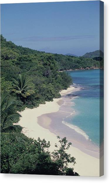 Hawksnest Beach And Bay Canvas Print