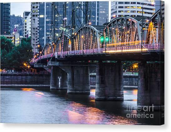 Hawthorne Bridge Portland Oregon Canvas Print