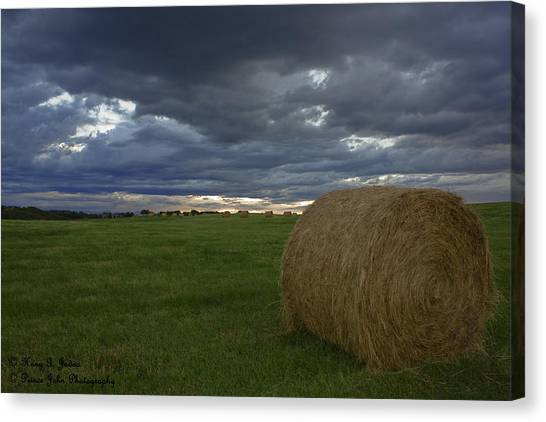 Hay Bail Canvas Print
