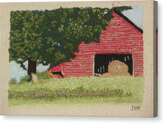 Hay Barn Canvas Print