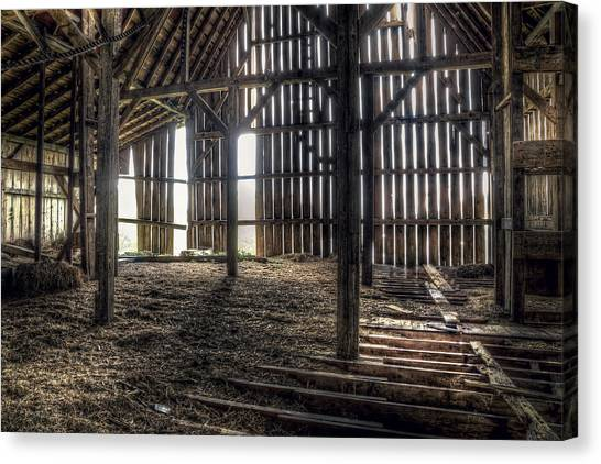Wood Canvas Print - Hay Loft 2 by Scott Norris