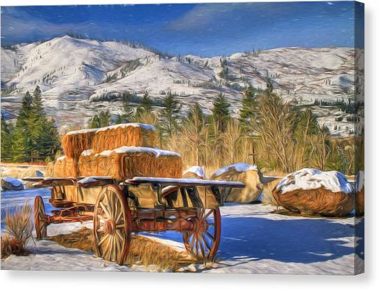 Carts Canvas Print - Hay Wagon by Donna Kennedy