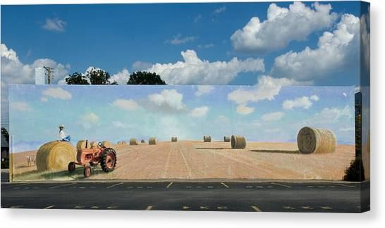 Haybales - The Other Side Of The Tunnel Canvas Print