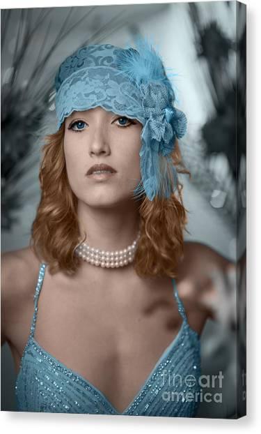 Hayley Blue Canvas Print by Donald Davis