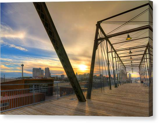 Hays Street Bridge At Sunset Canvas Print