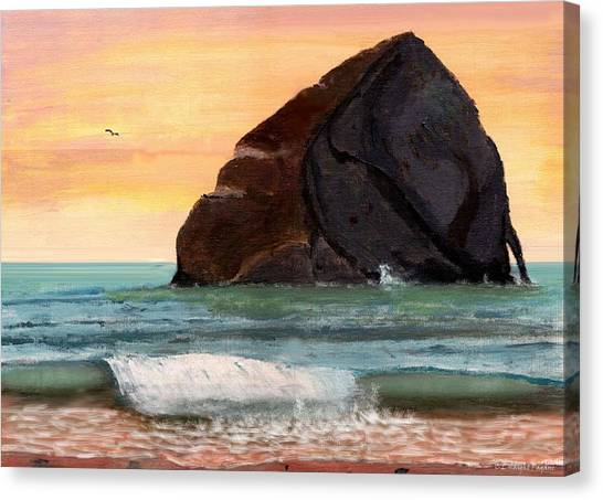 Haystack Rock At Kiwanda Canvas Print