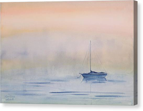 Hazy Day Watercolor Painting Canvas Print