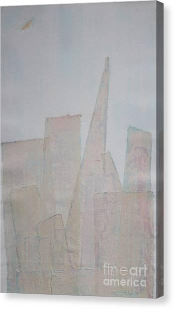 Hazy Fog Clearing Over San Francisco Canvas Print