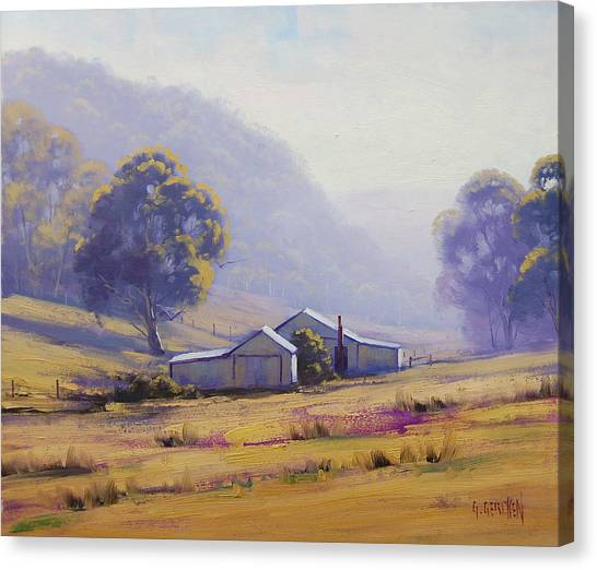 Grazing Canvas Print - Hazy Morning by Graham Gercken