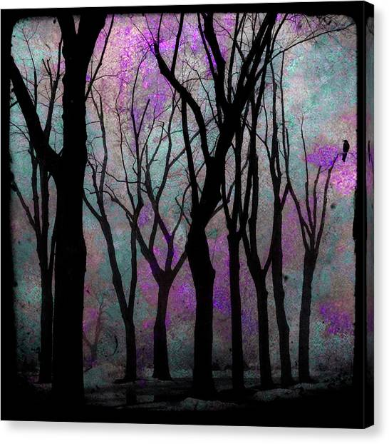 Woodland Canvas Print - Hazy Purple by Gothicrow Images