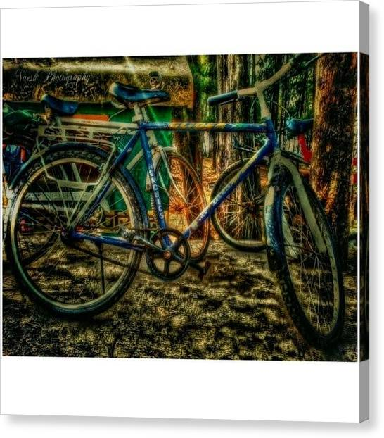 Droid Canvas Print - Hdr Cycle by Naresh Mali