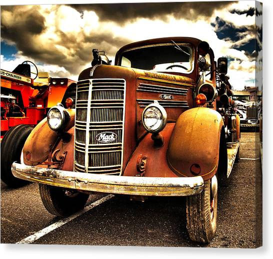 Hdr Fire Truck Canvas Print