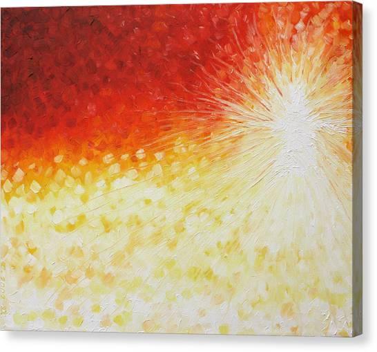 He Is Here Canvas Print by Sandra Yegiazaryan