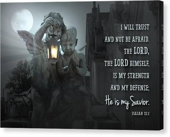 He Is My Savior Canvas Print