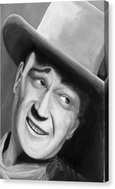 He Played A Cowboy Canvas Print