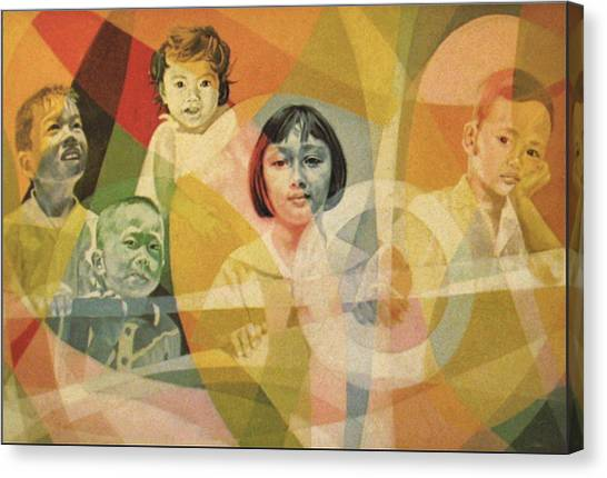 He Took Them In His Arms Canvas Print by Glenn Bautista