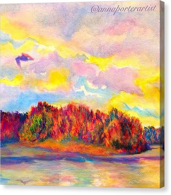 Pastel Canvas Print - A Perfect Idea Of Freedom And Flight by Anna Porter
