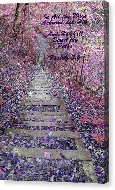 He Will Direct My Path Canvas Print