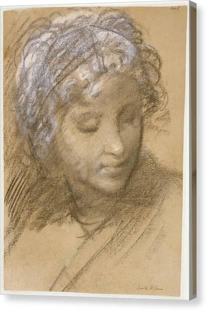 Procaccini Canvas Print - Head Of A Female Figure Recto,  Female Nude Verso Giulio by Litz Collection