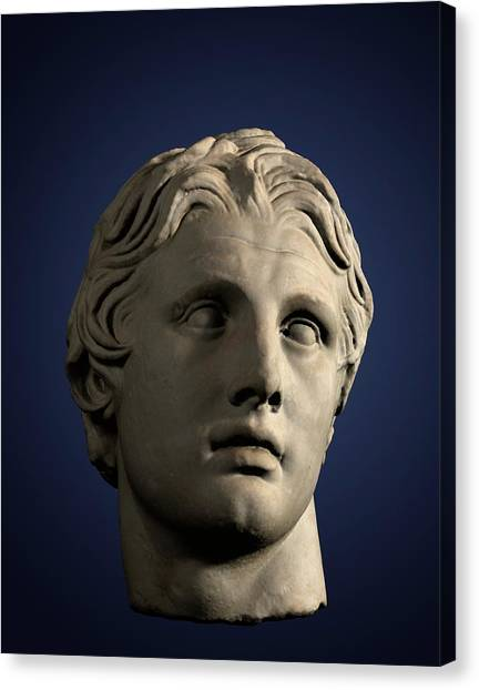 Hellenistic Art Canvas Print - Head Of Alexander The Great by David Parker
