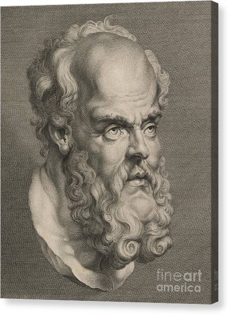 Philosopher Canvas Print - Head Of Socrates by Anonymous