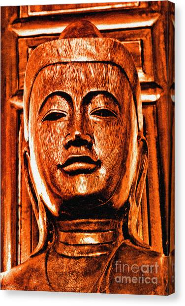 Head Of The Buddha Canvas Print