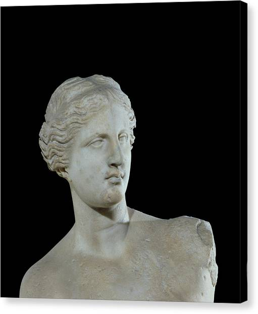 Hellenistic Art Canvas Print - Head Of The Venus De Milo by Greek School
