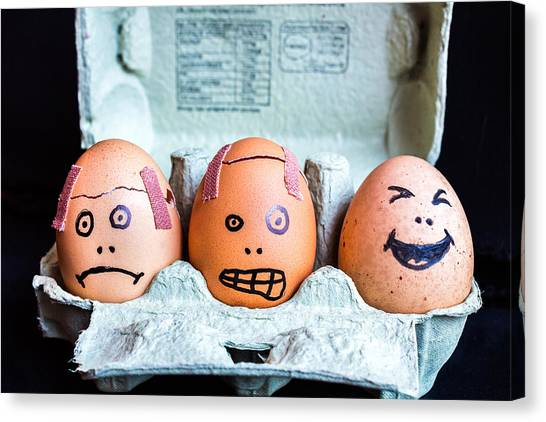 Headache Eggs. Canvas Print
