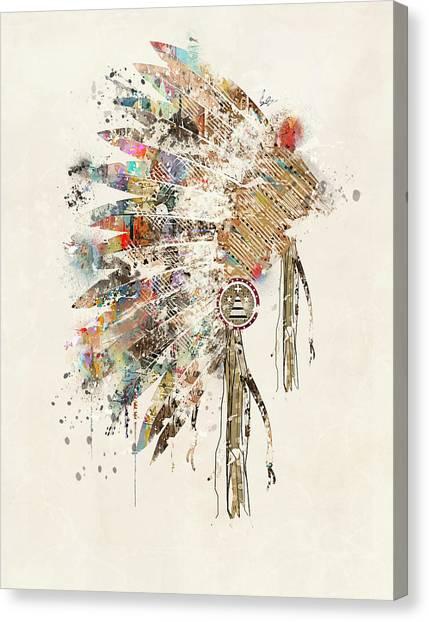 Native Canvas Print - Headdress by Bri Buckley
