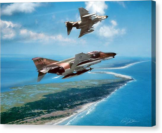 Sidewinders Canvas Print - Heading For Home by Peter Chilelli