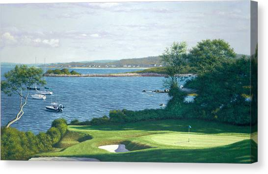Buzzards Canvas Print - Heading For The 19th Hole -woods Hole Golf Club by Julia O'Malley-Keyes