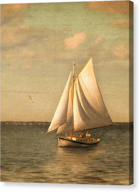 Sailing Canvas Print - Heading In by Michael Petrizzo