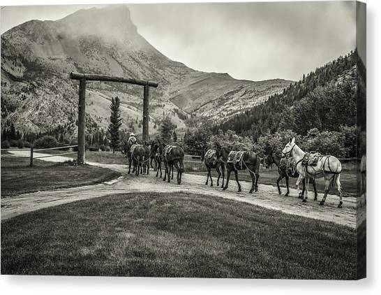 Heading Into The Mountains Canvas Print