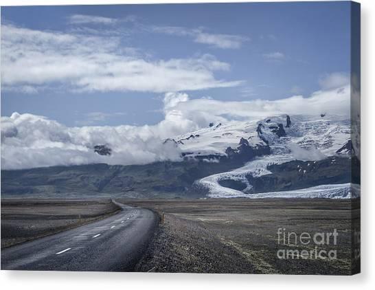 Vatnajokull Glacier Canvas Print - Heading North by Evelina Kremsdorf