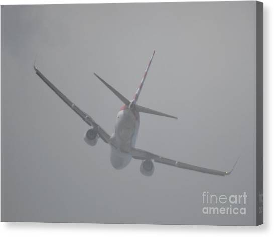 Heading Straight Into The Fog  Canvas Print