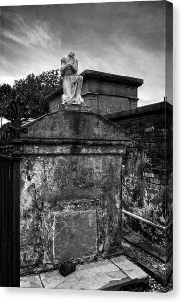 Headless Angel In Black And White Canvas Print