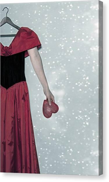 Coat Hanger Canvas Print - Headless Love by Joana Kruse