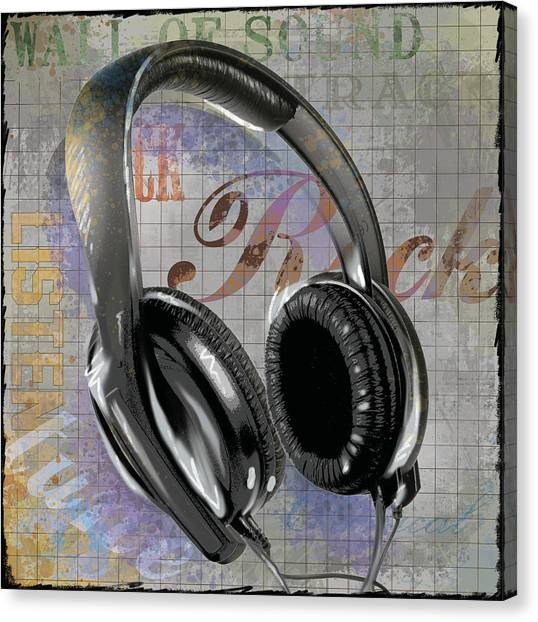 Headphones Canvas Print - Headphones by Jim Baldwin