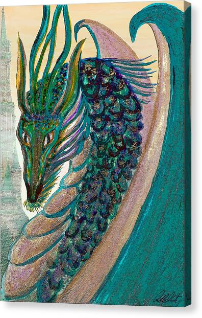 Healing Dragon Canvas Print